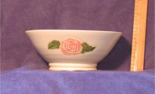 Carved Rose Bowl