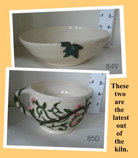 Bowl with leaf and Pitcher/bowl