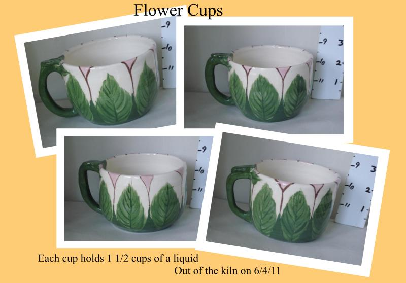 Flower Cups  set of four