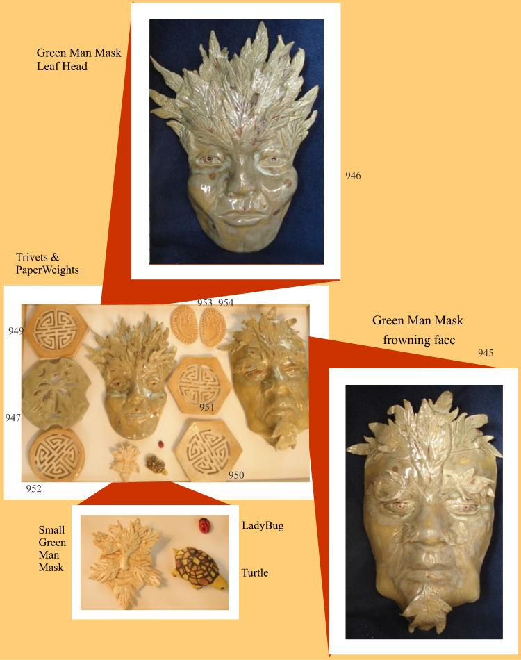 Green Man Masks and Trivets
