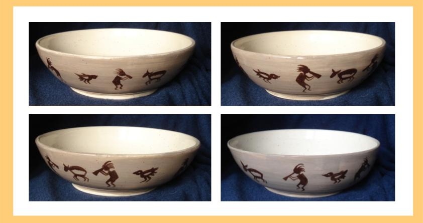 Kokopelli bowls  set of four