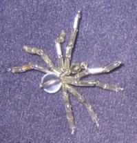 white spider pin